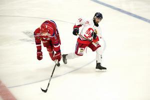 Rikky Hanspers i en match mot Avesta BK.