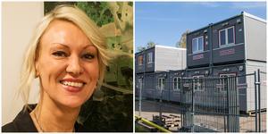 Frida Nilsson ville inte att kommuntjänstemännen skulle flytta till byggbodarna på gamla IP. Nu finns en ny lösning.