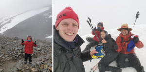 Nioåringen Alex Kong lyckades bestiga berget tillsammans med sin familj. Foto: Henrik Dehn.