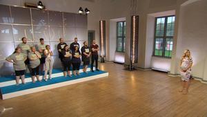 Under avsnittet som sändes tisdagen 15 maj fick Bayans blåa lag sämst procentuell viktnedgång och hamnade därför i utröstning. Foto: TV4