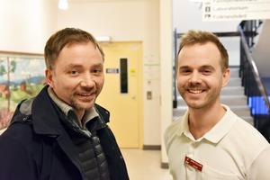 Carsten Schiborr och Jens Fälldin på vårdcentralen i Orsa.