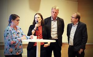 Sofia  Mirjamsdotter, Sara Nylund, Tomas Byberg och Joakim Byström belyste hoten och möjligheterna för klimatet ur olika aspekter.