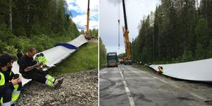 Vingen är 67 meter lång och 16 ton tung.