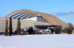 Maserhallen, med sina sex bågar, kunde te sig skrämmande då – för 42 år sedan. Foto: Klockar Mattias Nääs/Arkiv