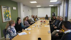 I oktober träffade Per Åsling personal tillsammans med centerpartiets ordförande i Hudiksvall Bengt Åke Nilsson.