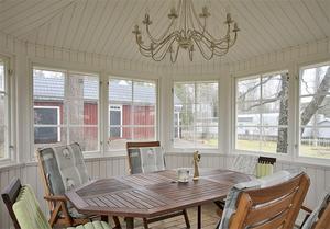 Insidan av lusthuset. Foto: Therese Sätterlund