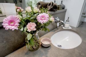 Bild från badrummet.