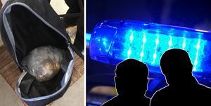 Mängden amfetamin är värd cirka 400000 kronor enligt Centralförbundet för alkohol- och narkotikaupplysning. Bilder: polisen/arkiv (montage).