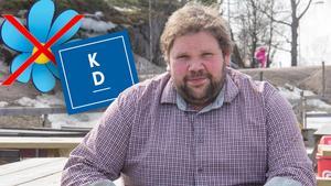 På bara ett par månader har Johan gått från ett SD-mandat till att toppa KD:s valsedel. Montage: Rasmus Hammarström.
