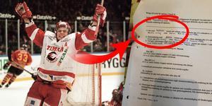 Markus Matthiasson var en av hjältarna när Timrå gick upp i SHL 2000, med 46 poäng på 45 matcher. Foto: Mårten Englin och Privat (Montage).
