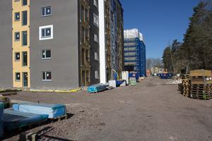 Lägenheterna i kvarteret Matboden på Vallby är på väg att byggas.