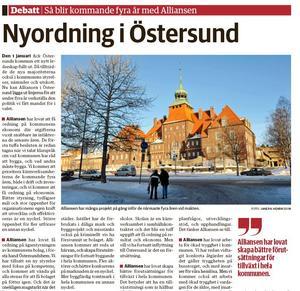 I LT  7 januari berättade alliansen i Östersund hur de ska förvalta sitt maktinnehav under de kommande fyra åren.