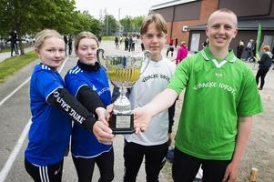 Tove Sjöström, 16 år från klass 9E, Hanna Sahlin, 16 år från 9E, Isak Harlestedt, 16 år från 9B och Lukas Åkesson, 15 år från klass 8C. Fyra idrottsintresserade medlemmar som sitter i styrelsen i Vibackes aktivitetsförening.