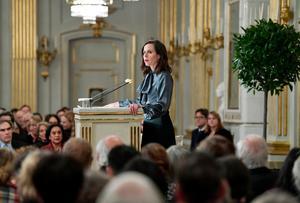 Sara Danius, Svenska Akademiens ständiga sekreterare, har fått utstå orättvis kritik enligt expert i krishantering. Foto: Stina Stjernkvist / TT