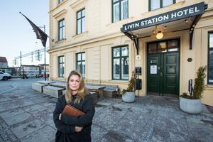 Hanna Wellander har många planer för Livin station. En uteservering med segelduk över på sommaren är en av flera idéer.