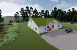 Så här är det tänkt att nybygget av Maribergsgården ska se ut. Illustration: Kramfors kommun