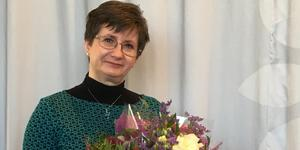 Kaija Holmgren, ABB Industrigymnasium Ludvika, har tilldelats Hédi Frieds lärarstipendium. Foto: ABB Industrigymnasium