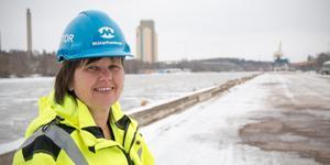Carola Alzén, vd på Mälarhamnar AB i Köpings hamn.