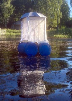 Under Konst påsjön i Flosjöviken kan besökarna se bland annat Inger Dolks