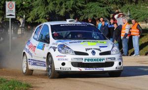 Patrik Sandell och Emil Axelsson började svajigt, men körde upp sig och vann Rally Porec i Kroatien.Foto: patriksandell.com