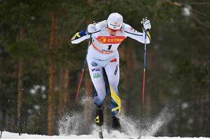 Oskar Svensson under fjolårets sprintkval i Falun.