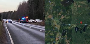 Olyckan inträffade på väg 233, mellan Skinnskatteberg och Ramnäs.