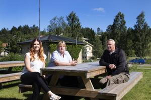 Caroline Vikström, Ingmarie Antonsson och Kai Nurmi vill se Rengsjö växa.