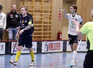 Lagens bägge kaptener och poängmaskiner: Victor Hanold i Wallvik och Oskar Fahlberg i Håsta.