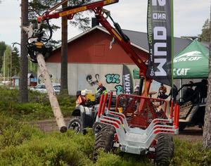 Olika maskintillverkare fanns representerade på skogsmässan i Malung.