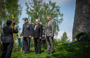 Arméchef Karl Engelbrektson, försvarsminister Peter Hultqvist och Avesta kommuns kommunalråd lars Isacsson var på plats.