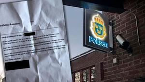 Sollefteåpolisen sköter utredningen efter det misstänkta kidnappningsdramat på en plats i Sollefteå kommun i förra veckan. På bilden ser vi också rektorns brev som skickades ut till alla vårdnadshavare efter incidenten.