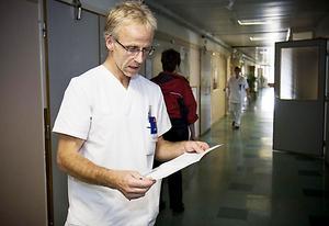 Allmänläkaren Michael Fichtel är oroad över den temporära stängningen av hjärtmottagningen i Härnösand.