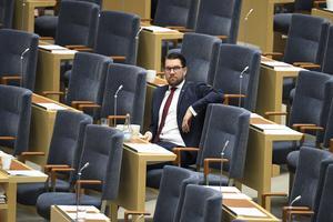 I ensam majestät, Jimmie Åkesson (SD). Foto: Jessica Gow / TT
