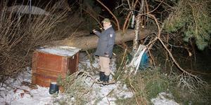 – Till och med min kompost har klarat sig, säger Hans Dahlqvist.