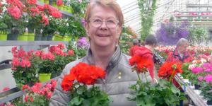 Anneli Sandegård shoppade blommor under den resa som PRO Mjälga Östermalm nyligen genomförde.