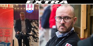 Lars Backlund, till vänster, meddelade under tisdagen att Jörgen Wahlberg sparkas.