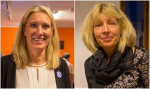 Skinnskattebergs kommunalråd Carina Sándor (L) och oppositionsråd Lena Lovén Rolén (S).