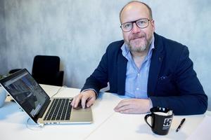 Björn Höglund, projektledare för  cityprojektet, berättar att man nu går vidare för att hitta fler etableringar i Härnösand.