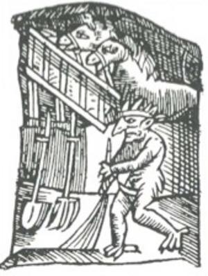 En tomte skildrad i Olaus Magnus Carta Marina från 1539.