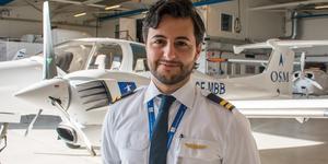 Sebastian Soltani har alltid haft en dröm att bli pilot.