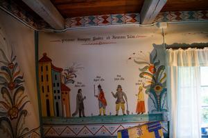 Väggmålningarna är daterade till 1929.