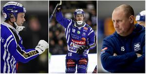 David Karlsson och Jocke Andersson gjorde 5+1 vardera i krossen av Hammarby – Johan Sixtensson valde Edsbyn på Villas sida i slutspelet. FOTO: TT