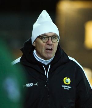 Brobergs dåvarande tränare Stefan Karlsson –sedermera i Vänersborg och Hammarby – hade en del att säga supportern.