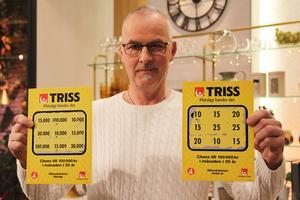 Rolf Morin från Djurås i Gagnefs kommun skrapade fram en storvinst på 15 000 kronor i månaden i 15 år. Foto: Svenska Spel