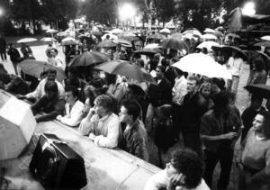 Trots en hel del regn kom det rekordmycket folk till Yran.