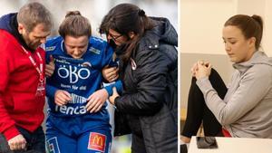 """Drog korsbandet för andra gången – nu talar Kif Örebro-spelaren Maja Regnås ut: """"Mycket tankar – är det värt det?"""""""