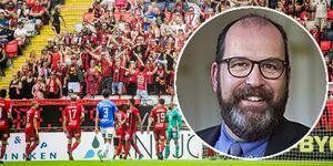 –  Jag brinner för ÖFK och det känns fantastiskt att någon vill ha mig som ordförande och därmed tror att jag kan göra ett bra jobb, säger Mathias Rasteby.