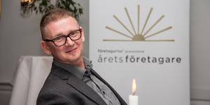 Peter Lindqvist representerar Fagersta-Posten på galan Årets Företagare på Färna herrgård tidigare i år.