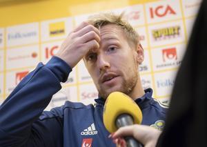 Emil Forsberg blickar fram mot mötet med Rumänien. Bild: Fredrik Sandberg/TT.