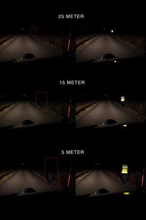 Räddningstjänsten i Säffle har tagit fram en illustrativ bild som visar skillnaden mellan att använda reflex och inte. Bild: Räddningstjänsten Säffle
